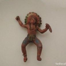 Figuras de Goma y PVC: FIGURA INDIO PECH HNOS. Lote 184667775