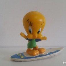 Figuras de Goma y PVC: MUÑECO EN PVC / LOONEY TUNES: PIOLÍN SURFISTA / 1998 WARNER BROS / BULLYLAND GERMANY. Lote 184775663