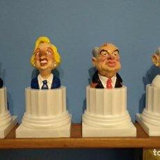 Figuras de Goma y PVC: 4 BUSTOS ,COLUMNAS GRIEGAS COMICS SPAIN. Lote 184799948