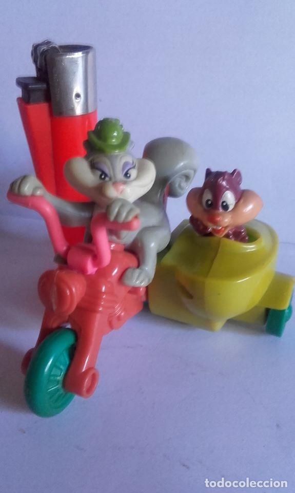MUÑECO EN PVC MOTO-SIDECAR / .LOS ARISTOGATOS / DE WARNER BROS / 1993 (Juguetes - Figuras de Goma y Pvc - Otras)
