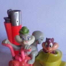 Figuras de Goma y PVC: MUÑECO EN PVC MOTO-SIDECAR / .LOS ARISTOGATOS / DE WARNER BROS / 1993. Lote 184831252