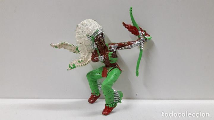 Figuras de Goma y PVC: GUERRERO INDIO PARA CABALLO . REALIZADO POR LAFREDO . AÑOS 60 . CABALLO NO INCLUIDO - Foto 5 - 184844663