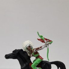 Figuras de Goma y PVC: GUERRERO INDIO PARA CABALLO . REALIZADO POR LAFREDO . AÑOS 60 . CABALLO NO INCLUIDO. Lote 184844663