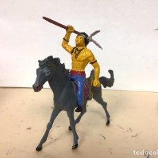 Figuras de Goma y PVC: FIGURA INDIO CABALLO COMANSI OESTE WESTERN NO PECH REAMSA JECSAN LAFREDO. Lote 184898501