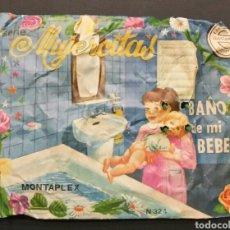 Figuras de Goma y PVC: SOBRE CERRADO MONTAPLEX MUJERCITAS BAÑO DE MI BEBE 324. Lote 184914618