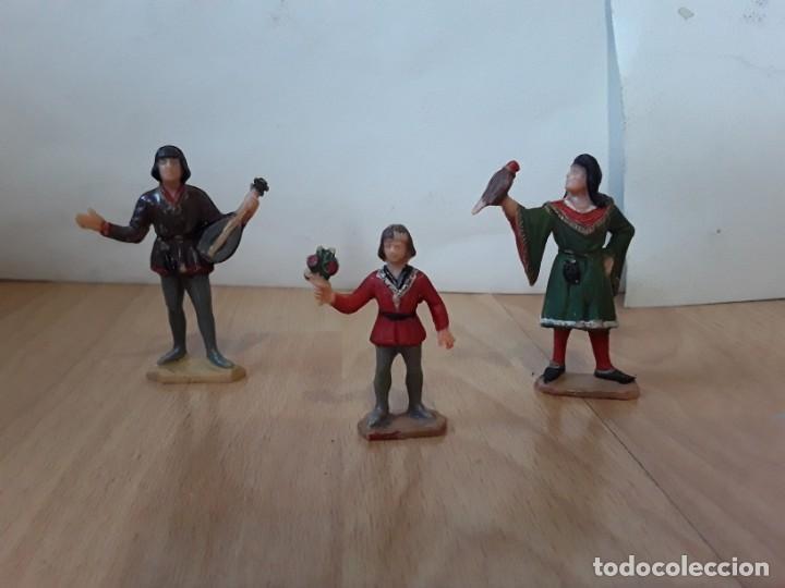 Figuras de Goma y PVC: Corte feudal Reamsa. Serie Completa. - Foto 4 - 184943956