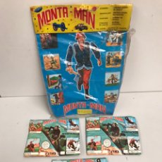 Figuras de Goma y PVC: ANTIGUO LOTE DE MONTAPLEX MONTA-MAN CON BLISTER. Lote 185158895