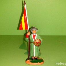 Figuras de Goma y PVC: ARABE CON BANDERA ESPAÑOL, REAMSA AÑOS 60. Lote 185671708