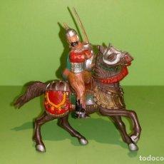 Figuras de Goma y PVC: ARABE EN CABALLO MARRÓN, REAMSA AÑOS 60. Lote 185671883