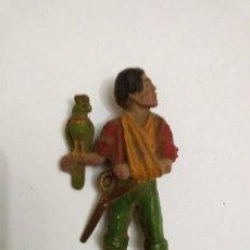 Figuras de Goma y PVC: REAMSA. PIRATA GOMA. CON LORO.. Lote 185739002