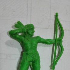 Figuras de Goma y PVC: FIGURA INDIO CON ARCO DE PLASTICO, ALTURA 9 CM. Lote 185886455