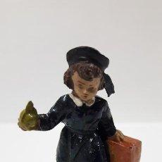 Figuras de Goma y PVC: ALUMNA DEL COLEGIO . REALIZADA POR JECSAN . COLEGIO INFANTIL - ESCUELA NACIONAL . AÑOS 50. Lote 185908826