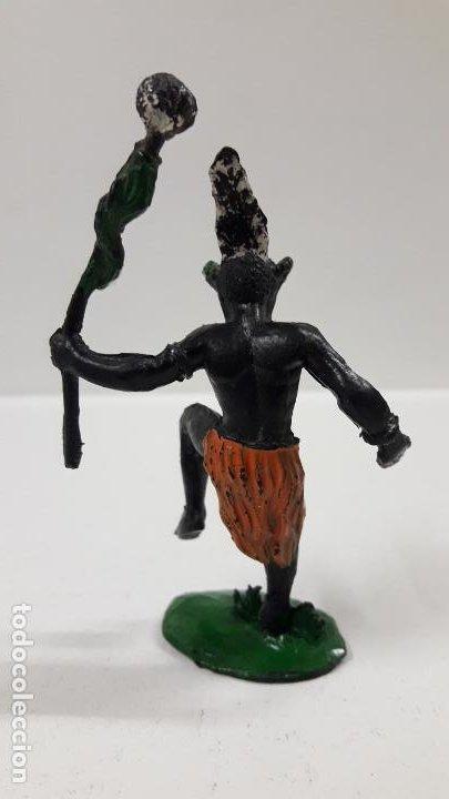 Figuras de Goma y PVC: BRUJO - HECHICERO AFRICANO NEGRO . REALIZADO POR ARCLA . AÑOS 50 EN GOMA - Foto 2 - 185909105