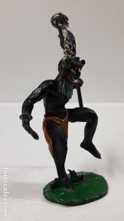 Figuras de Goma y PVC: BRUJO - HECHICERO AFRICANO NEGRO . REALIZADO POR ARCLA . AÑOS 50 EN GOMA - Foto 4 - 185909105