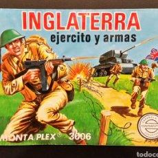 Figuras de Goma y PVC: SOBRE MONTAPLEX VACIO INGLATERRA EJÉRCITO Y ARMAS 3006. Lote 185912775