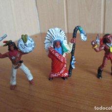 Figuras de Goma y PVC: LOTE 3 FIGURAS INDIOS COMANSI ( PECH , JECSAN , REAMSA , TEIXIDO , OLIVER , COMANSI , ETC). Lote 186050061
