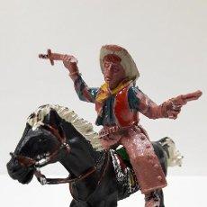 Figuras de Goma y PVC: VAQUERO A CABALLO . REALIZADO POR LAFREDO . AÑOS 60. Lote 186056836
