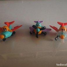 Figuras Kinder: LOTE DE 3 FIGURAS AVIONES DE HUEVOS KINDER ,, LEER DESCRIPCION. Lote 186059423