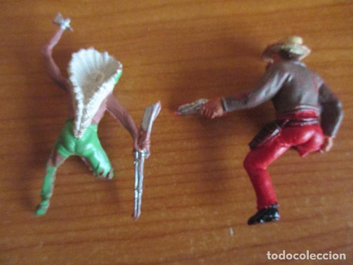 Figuras de Goma y PVC: LOTE 2 FIGURAS ROTAS ANTIGUAS OESTE ( PECH , JECSAN , REAMSA , TEIXIDO , OLIVER , COMANSI , ETC) - Foto 2 - 186078463