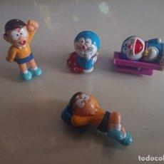Figuras Kinder: LOTE DE 4 FIGURAS DORAEMON DE HUEVOS KINDER , LEER DESCRIPCION. Lote 186082835