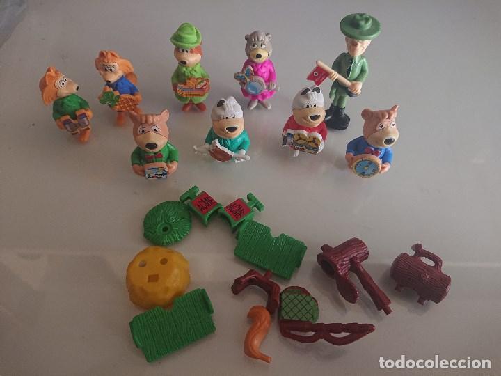 LOTE DE 9 FIGURAS OSOS DE HUEVOS KINDER , LEER DESCRIPCION (Juguetes - Figuras de Gomas y Pvc - Kinder)