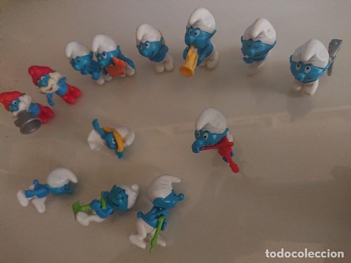 Figuras Kinder: Lote de 13 FIGURAS PITUFOS DE HUEVOS KINDER , LEER DESCRIPCION - Foto 2 - 186083291