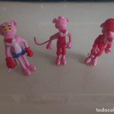 Figuras Kinder: LOTE DE 3 FIGURAS PANTERA ROSA DE HUEVOS KINDER, LEER DESCRIPCION. Lote 186083465