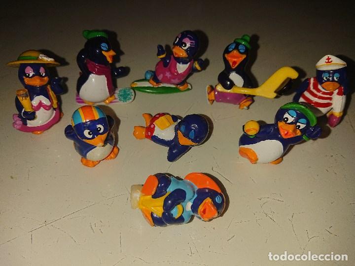 LOTE DE 9 FIGURAS PINGUINOS DE HUEVOS KINDER, LEER DESCRIPCION (Juguetes - Figuras de Gomas y Pvc - Kinder)