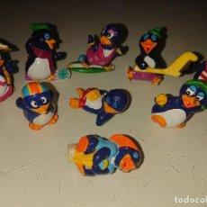 Figuras Kinder: LOTE DE 9 FIGURAS PINGUINOS DE HUEVOS KINDER, LEER DESCRIPCION. Lote 186083837