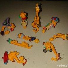 Figuras Kinder: LOTE DE 9 FIGURAS JIRAFAS DE HUEVOS KINDER, LEER DESCRIPCION. Lote 186083887