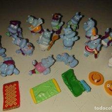 Figuras Kinder: LOTE DE 15 FIGURAS HAPPY HIPOS DE HUEVOS KINDER , LEER DESCRIPCION. Lote 186084058