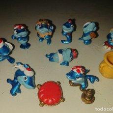 Figuras Kinder: LOTE DE 9 FIGURAS TIBURONES DE HUEVOS KINDER , LEER DESCRIPCION. Lote 186084232