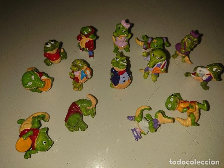 LOTE DE 14 FIGURAS COCODRILOS DE HUEVOS KINDER , LEER DESCRIPCION (Juguetes - Figuras de Gomas y Pvc - Kinder)