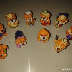 Figuras Kinder: LOTE DE 10 FIGURAS LEONES DE HUEVOS KINDER , LEER DESCRIPCION. Lote 186084341