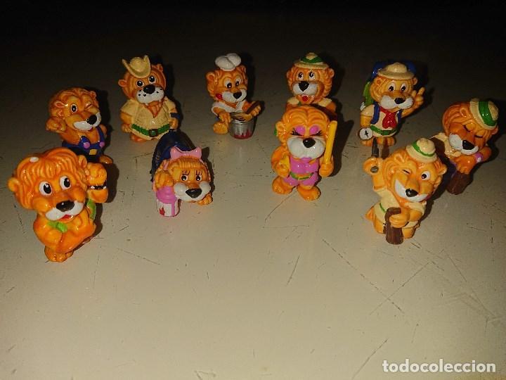 Figuras Kinder: Lote de 10 FIGURAS LEONES DE HUEVOS KINDER , LEER DESCRIPCION - Foto 2 - 186084341