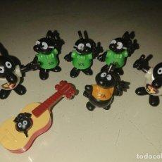 Figuras Kinder: LOTE DE 7 FIGURAS NOTAS MUSICALES DE HUEVOS KINDER , LEER DESCRIPCION. Lote 186084540