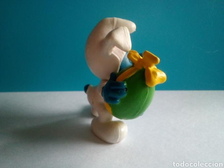 Figuras de Goma y PVC: FIGURA PVC PITUFO CONEJITO HUEVO PASCUA PEYO 1982 MADE IN PORTUGAL - Foto 2 - 186119923