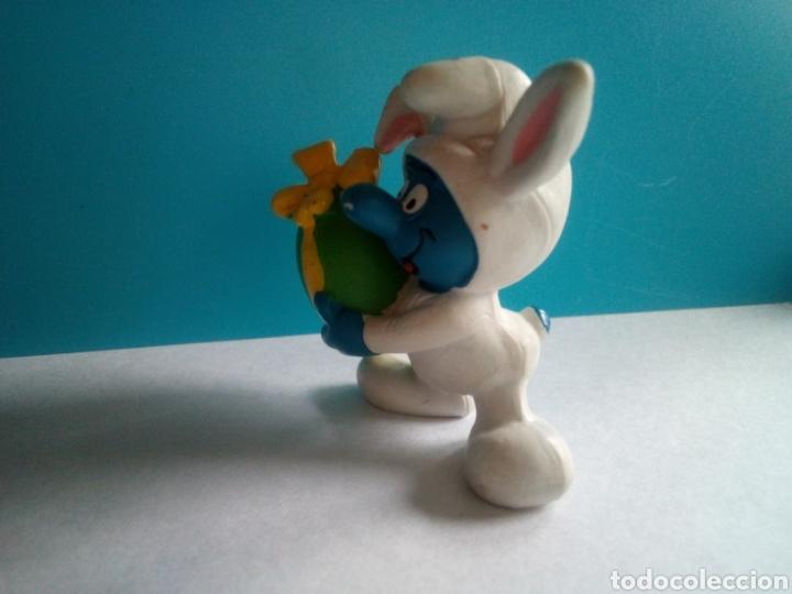 Figuras de Goma y PVC: FIGURA PVC PITUFO CONEJITO HUEVO PASCUA PEYO 1982 MADE IN PORTUGAL - Foto 4 - 186119923