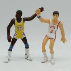 Figuras de Goma y PVC: FIGURAS DREAM TEAM NBA DE YOLANDA 1987, DRAZEN PETROVIC NEW JERSEY + NETS MAGIC JOHNSON LA LAKERS. Lote 186180232