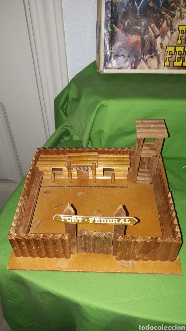 Figuras de Goma y PVC: Mini oeste FORT FEDERAL de COMANSI años 70 leer descripción - Foto 3 - 186261661