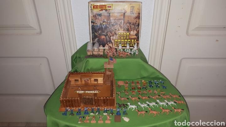 Figuras de Goma y PVC: Mini oeste FORT FEDERAL de COMANSI años 70 leer descripción - Foto 5 - 186261661