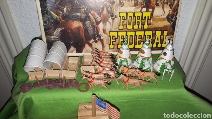 Figuras de Goma y PVC: Mini oeste FORT FEDERAL de COMANSI años 70 leer descripción - Foto 6 - 186261661
