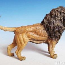 Figuras de Goma y PVC: LEÓN RUGIENDO LINEOL AÑOS 30 COMPATIBLE CON ARCLA, PECH, LAFREDO. Lote 182025210