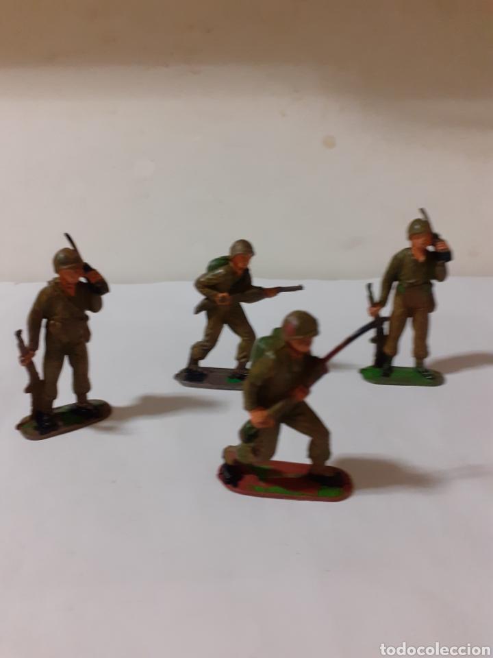 LOTE SOLDADOS AMERICANOS PECH,JECSAN,REAMSA PLASTICO (Juguetes - Figuras de Goma y Pvc - Jecsan)