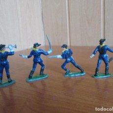 Figuras de Goma y PVC: LOTE 4 SOLDADOS FEDERALES ANTIGUOS ( PECH ,JECSAN , REAMSA , OLIVER , COMANSI , GOMARSA, ETC). Lote 187100986