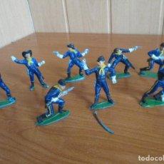 Figuras de Goma y PVC: LOTE 8 SOLDADOS FEDERALES ANTIGUOS ( PECH ,JECSAN , REAMSA , OLIVER , COMANSI , GOMARSA, ETC). Lote 187101307