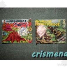 Figuras de Goma y PVC: LOTE DE 2 SOBRES CERRADOS MONTAPLEX DINOSAURIOS Y ANIMALES PREHISTORICOS. Lote 187109350