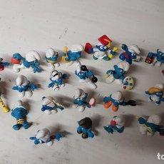 Figuras de Goma y PVC: LOTE 26 FIGURAS DE LOS PITUFOS - PEYO Y SCHLEICH. Lote 187117775