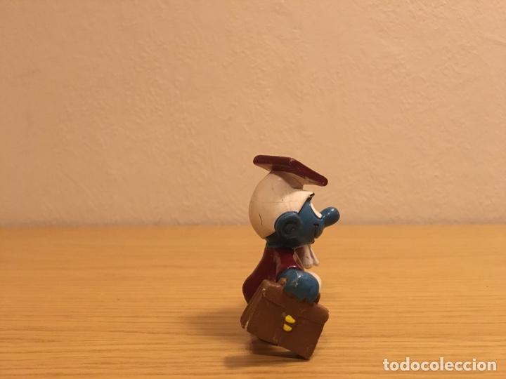 Figuras de Goma y PVC: PITUFO GRADUADO - LICENCIADO - FIGURA PVC - SCHLEICH-PEYO - AÑO 1981 - Foto 3 - 187182222