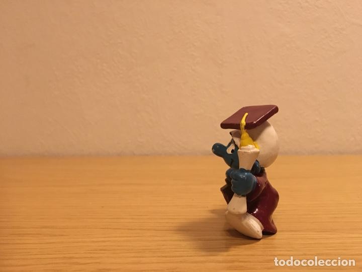 Figuras de Goma y PVC: PITUFO GRADUADO - LICENCIADO - FIGURA PVC - SCHLEICH-PEYO - AÑO 1981 - Foto 4 - 187182222